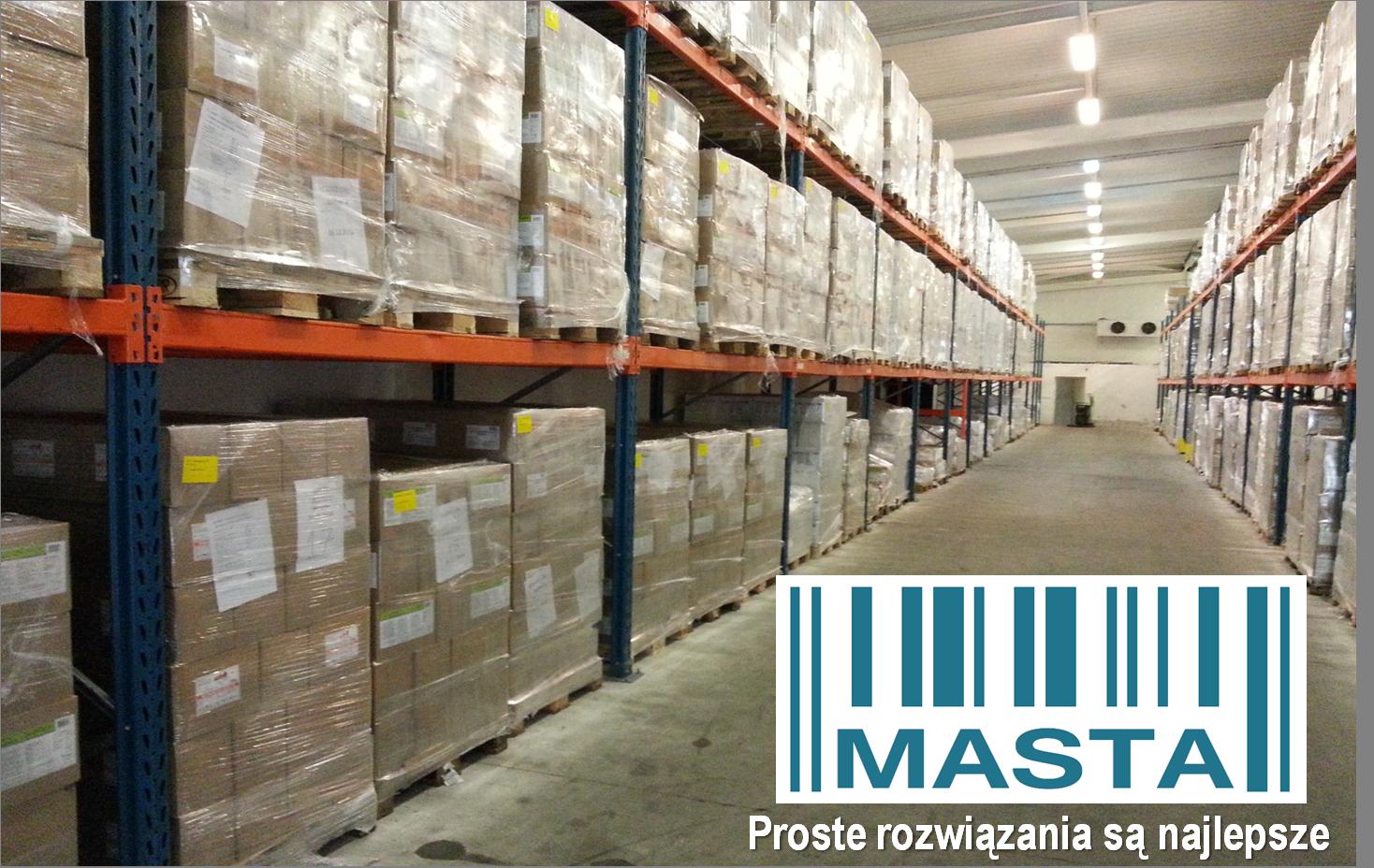 Typowy magazyn dla systemu WMS MASTA